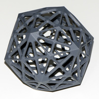 Small Rhombic Triacontahedron 3D Printing 128613
