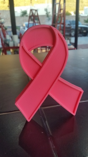 breast cancer ribbon 3D Print 128675