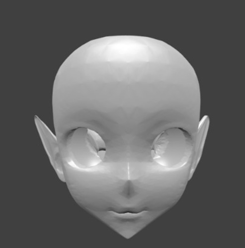 head with elf ears 3D Print 128703
