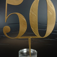 Small 50 Anniversary Cake Topper 3D Printing 128706