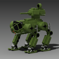 "Small Russian Walking Troops Carrier ""Lynx"" (Rys) 3D Printing 128713"