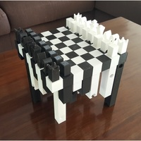 Small Hollow3 Chessboard 3D Printing 128728