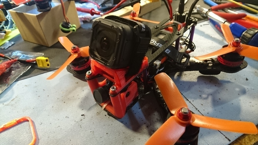 Martian II (Alien Clone) 30° GoPro Session mount 3D Print 128840