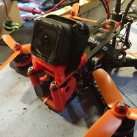 Small Martian II (Alien Clone) 30° GoPro Session mount 3D Printing 128840