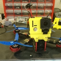 Small DalRC XR215(Plus) 20 degree GoPro Mount 3D Printing 128875