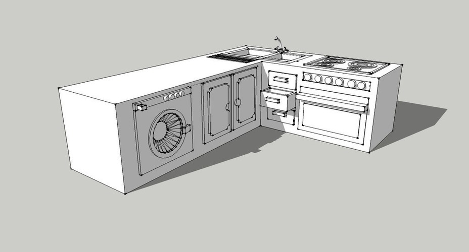 Kitchen 3D Print 128921