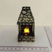 Small Chimenea - Fire place - cheminée 3D Printing 128942