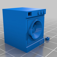 Small Lavadora- washing machine - machine a laver 3D Printing 128949