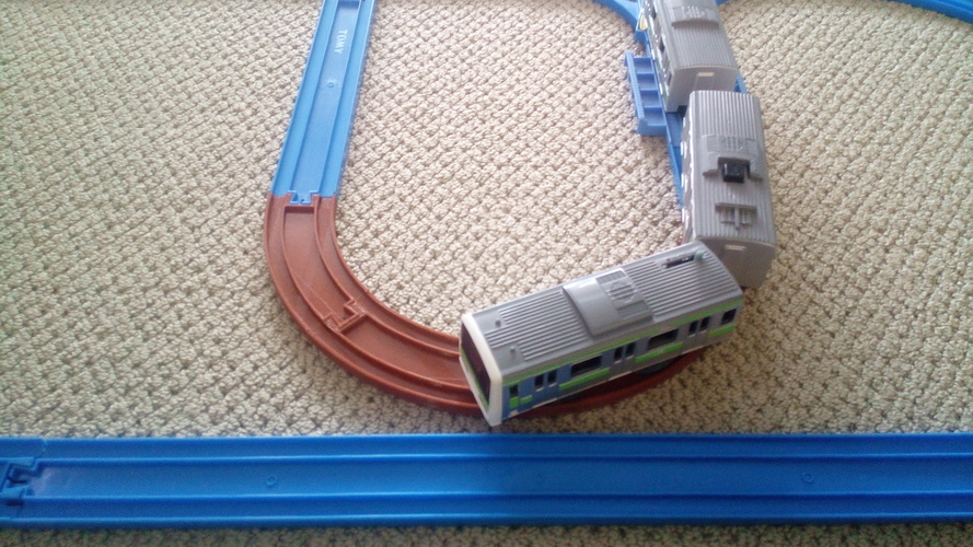 Tomy Plarail Train Track Curved, 45deg Tight Radius 3D Print 128970