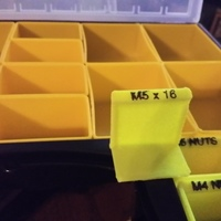 Small Organizer Tray / Box for Harbor Freight organizer 3D Printing 129074