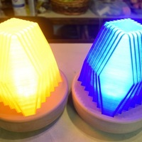 Small Fractal Led Lamp 3D Printing 129081