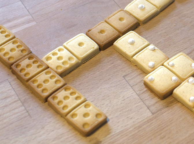 Domino Cookie Cutter 3D Print 129091