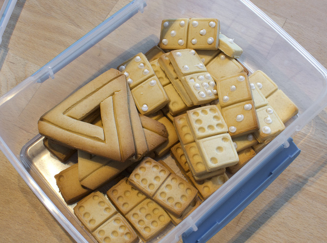 Domino Cookie Cutter 3D Print 129093