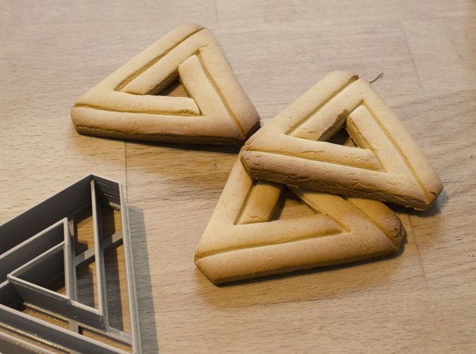 Impossible Triangle - Cookie Cutter 3D Print 129096