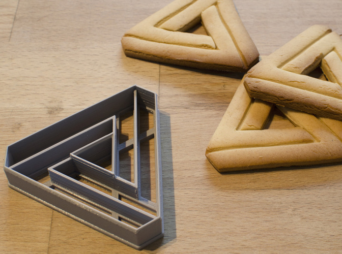 Impossible Triangle - Cookie Cutter 3D Print 129097