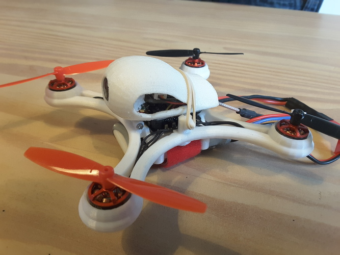 Mini Quad Racer 120mm  FC lumenier F4 Brushless 1103 10.000kv 2S 3D Print 129140