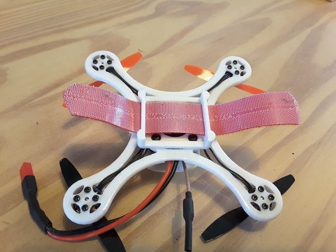 Mini Quad Racer 120mm  FC lumenier F4 Brushless 1103 10.000kv 2S 3D Print 129143