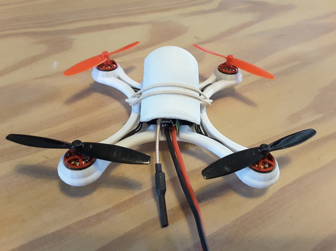 Mini Quad Racer 120mm  FC lumenier F4 Brushless 1103 10.000kv 2S 3D Print 129145