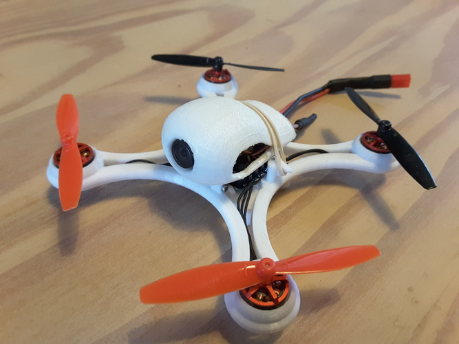 Mini Quad Racer 120mm  FC lumenier F4 Brushless 1103 10.000kv 2S 3D Print 129146