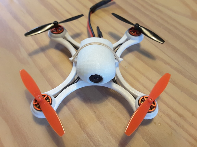 Mini Quad Racer 120mm  FC lumenier F4 Brushless 1103 10.000kv 2S 3D Print 129147