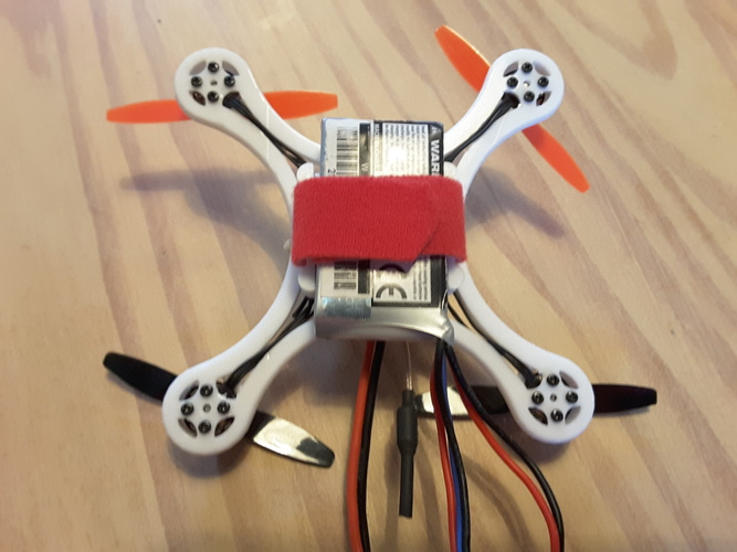Mini Quad Racer 120mm  FC lumenier F4 Brushless 1103 10.000kv 2S 3D Print 129149
