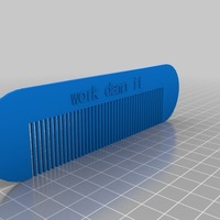 Small work damn it comb 3D Printing 12917