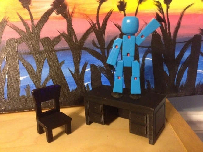 Toy Desk and Chair 3D Print 129191