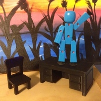Small Toy Desk and Chair 3D Printing 129191