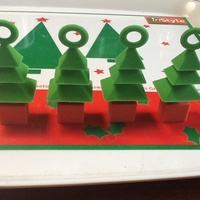 Small 3d xmas tree mini ornaments 4 set 3D Printing 12920