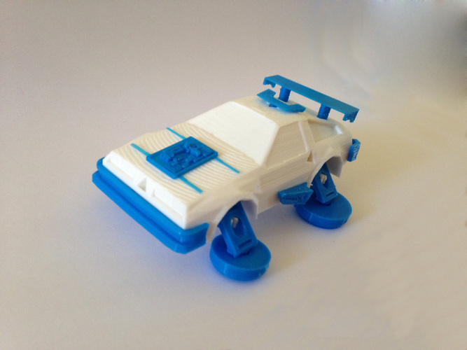 3DRacers - DeLorean - Back to the Future 3D Print 12928