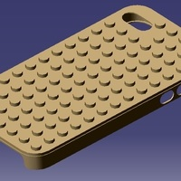 Small iPhone 4S Lego Case 3D Printing 129311