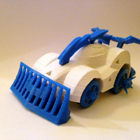 Small 3DRacers - Armageddon Car 3D Printing 12932