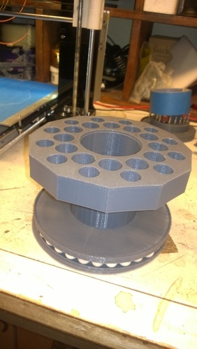 Tool Carousel Remix V_2 with rotating base 3D Print 129382