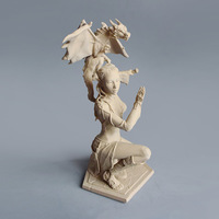 Small Woman and Dragon 3D Printing 129397
