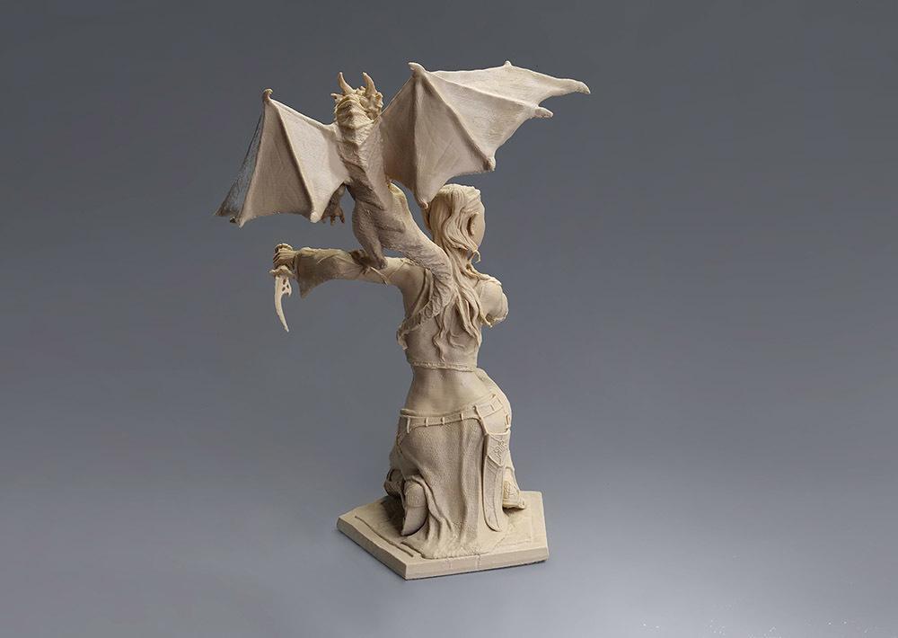 Woman and Dragon @ Pinshape