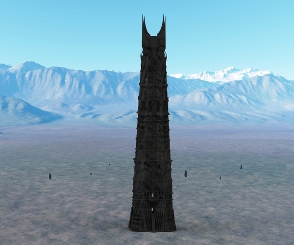 Medium Orthanc Tower from The Lord of the Rings 3D Printing 129436