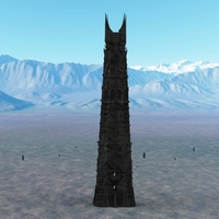 Small Orthanc Tower from The Lord of the Rings 3D Printing 129436
