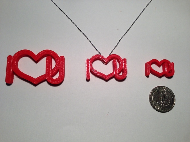 Necklace-Love style 1 3D Print 129458