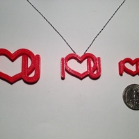 Small Necklace-Love style 1 3D Printing 129458