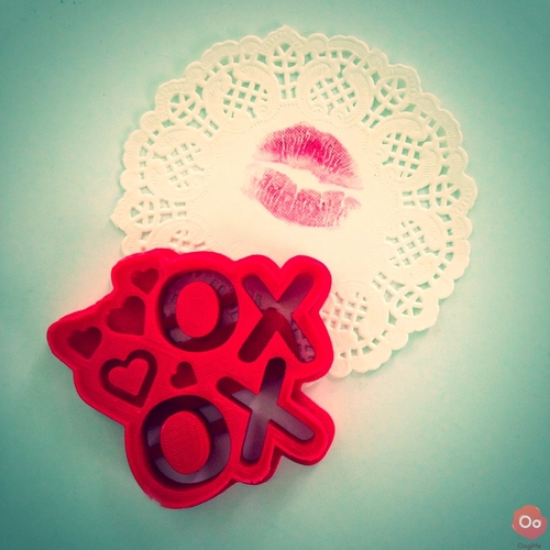 XOXO Cookie Cutter 3D Print 12946