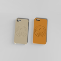 Small Iphone 6 & 7 Galactic RepublicCase 3D Printing 129480