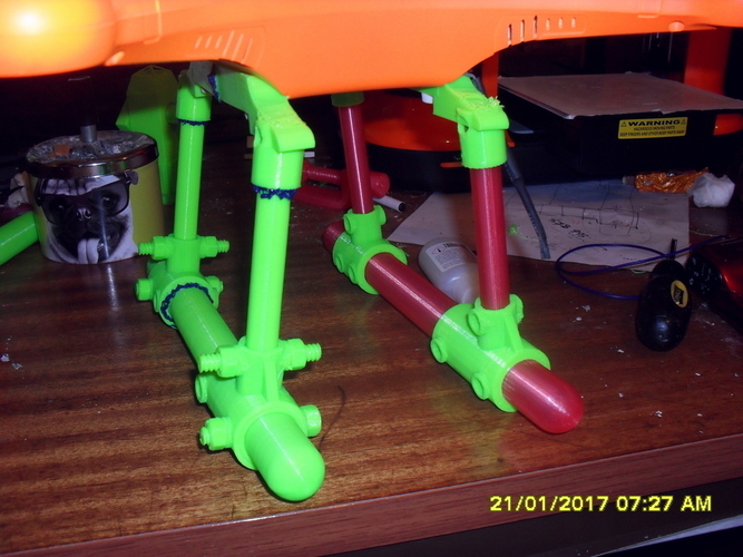 Redesigned landing skid set for Twister Quattro-X Drone 3D Print 129525