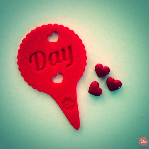 Happy Valentine's Day Cupcake Topper 3D Print 12953