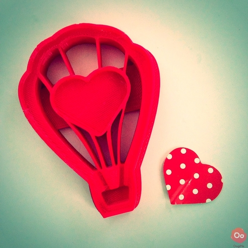 Love Ballon Cookie Cutter 3D Print 12958