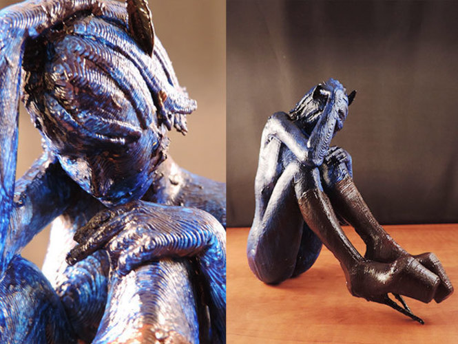 Cat Girl Blues.. 3D Print 129597