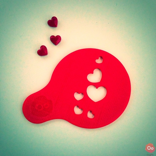 Hearts & Kisses Coffee Decorating Stencils 3D Print 12962