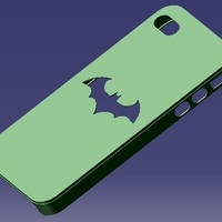 Small iPhone 4S Batman Case 3D Printing 129651