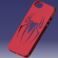 Small iPhone 5S Spider-man Case 3D Printing 129655