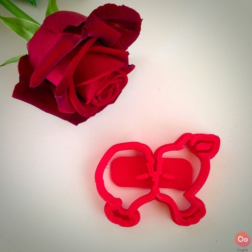 Kids Kissing Cookie Cutter 3D Print 12975