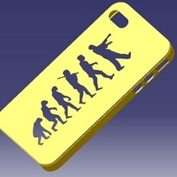 Small iPhone 4S Evolution Case 3D Printing 129834